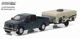 GreenLight - Ford  - gl32080D : 2015 Ford F-150 and Pop-Up Camper Trailer, Hitch and tow Series 8.