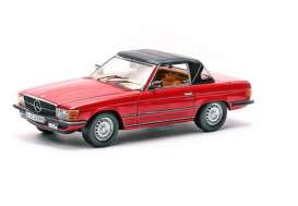 SunStar - Mercedes  - sun4597 : 1977 Mercedes Benz 350SL Closed Convertible, red with black softtop.