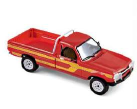 Norev - Peugeot  - nor475448 : 1985 Peugeot 504 Pick up 4x4 Dangel, red/yellow