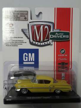 M2 Machines - Chevrolet  - M2-11228-36-1 : *M2-Drivers Release 36* 1958 Chevrolet Impala, yellow