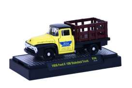 M2 Machines - Ford  - M2-32500-36D : 1956 Ford F-100 Stakebed Truck *Auto-Trucks release 36*, yellow/black