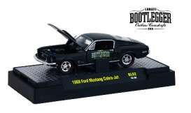 M2 Machines - Ford Mustang - M2-32600BL02F : 1968 Ford Mustang Cobra Jet *Bootlegger series*, black