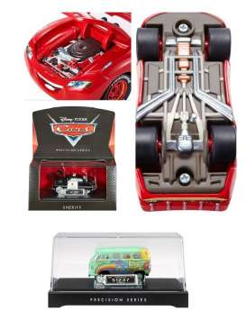 Hotwheels - Assortment/ Mix  - matDHD60-974C~6 : Cars 1/55 Precision series with opening hood, detailed chassis, miniature License plate all in Nice display case & Packaging.