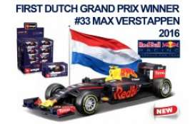 Bburago - Red Bull Racing  Renault - bura38025V : 2016 Red Bull RB12 F1 #33 Max Verstappen first Dutch Grand Prix winner