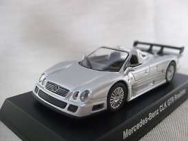 Kyosho - Mercedes  - KYO64CLK-GTRs : 1/64 Mercedes Benz AMG CLK GTR roadster, silver