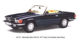 Mercedes Benz  - 350 SL open convertible 1977 blue - 1:18 - SunStar - 1131 - sun1131 | The Diecast Company