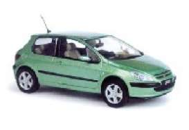 Peugeot  - 2002 green metallic - 1:43 - Norev - 73701 - nor73701 | The Diecast Company