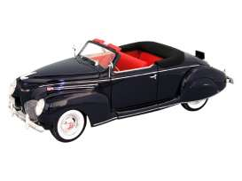 Lincoln  - Zephyr  1939 black - 1:18 - Signature Models - 18102 - sig18102bk | The Diecast Company