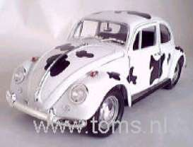 Volkswagen  - 1967 white/black - 1:18 - Yatming - yat92078cow | The Diecast Company