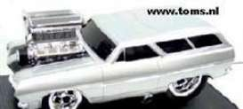 Chevrolet  - 1965 silver - 1:18 - Muscle Machines - musm61197s | The Diecast Company