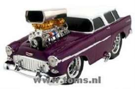 Chevrolet  - 1955 purple/white roof - 1:18 - Muscle Machines - musm61195p | The Diecast Company