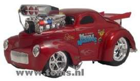 Willys  - 1941 red - 1:18 - Muscle Machines - musm61209r | The Diecast Company