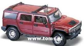 Hummer  - 2003 bordeaux-red - 1:18 - Maisto - 39631 - mai39631 | The Diecast Company