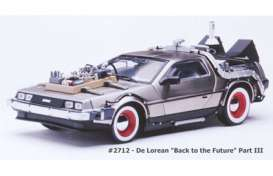 Delorean  - *Back to the Future III* 1987 stainless steel - 1:18 - SunStar - 2712 - sun2712 | The Diecast Company