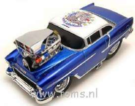 Chevrolet  - 1955 blue - 1:18 - Muscle Machines - musm69027VAb | The Diecast Company