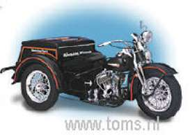 Harley Davidson  - 1947 black - 1:10 - Franklin Mint - fb11a753 | The Diecast Company