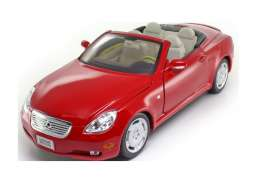 Lexus  - SC430 2003 red - 1:18 - Welly - 12518 - welly12518r | The Diecast Company
