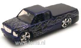 Ford  - 1999 purple w/black flame - 1:64 - Muscle Machines - musm71188Abk | The Diecast Company