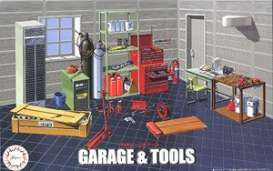 Car Garage diorama - 1:24 - Fujimi - 116358 - fuji116358 | The Diecast Company