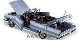 Chevrolet  - 1963 silver-blue - 1:24 - Franklin Mint - fb11xh05 | The Diecast Company
