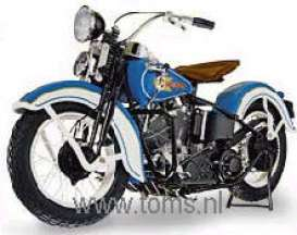Harley Davidson  - 1936 blue - 1:10 - Franklin Mint - fb11zu03 | The Diecast Company