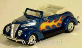 Ford  - 1937 met. blue w/flames - 1:43 - Yatming - yat94230b | The Diecast Company