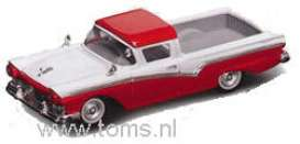 Ford  - 1957 red/white - 1:43 - Yatming - yat94215r | The Diecast Company