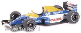 Williams  - 1992 yellow/blue - 1:18 - Exoto - exoto97110 | The Diecast Company