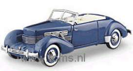 Cord  - 1937 blue - 1:24 - Franklin Mint - fb11e009 | The Diecast Company