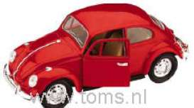 Volkswagen  - 1967 red - 1:24 - Yatming - yat93079r | The Diecast Company