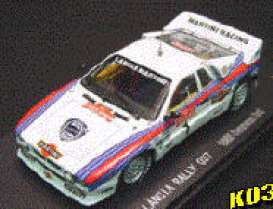 Lancia  - 1985 white/blue/red - 1:43 - Kyosho - 3181c - kyo3181c | The Diecast Company