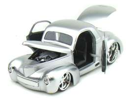 Willys  - 1941 silver - 1:24 - Jada Toys - 92413s - jada92413s | The Diecast Company