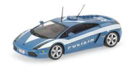 Lamborghini  - blue/white - 1:43 - Minichamps - 400103590 - mc400103590 | The Diecast Company