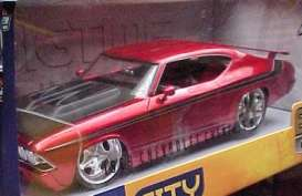 Chevrolet  - 1969 candy red w/black hood - 1:18 - Jada Toys - 90053r - jada90053r | The Diecast Company