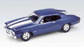 Chevrolet  - 1970 blue/white - 1:18 - Welly - welly19855b | The Diecast Company