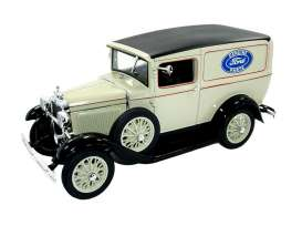Ford  - Model A Panel Truck 1931 creme - 1:18 - Signature Models - 18137 - sig18137c | The Diecast Company