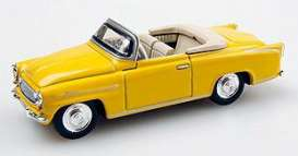 Skoda  - 1963 yellow - 1:43 - Abrex - ab00s703y | The Diecast Company