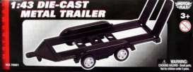 Trailer  - black - 1:43 - Motor Max - 76081 - mmax76081 | The Diecast Company