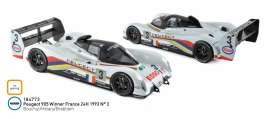 Peugeot  - 905 1993 white/black - 1:18 - Norev - 184773 - nor184773 | The Diecast Company