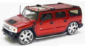 Hummer  - 2004 red - 1:24 - Jada Toys - 53549r - jada53549r | The Diecast Company