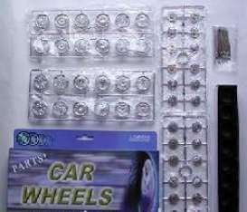 Rims & tires Wheels & tires - chrome - 1:24 - Wheels - 2003 - wheels2003ch | The Diecast Company