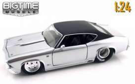 Chevrolet  - 1969 silver/black roof - 1:24 - Jada Toys - 90340PD-s - jada90340PD-s | The Diecast Company