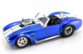 Shelby Cobra - 1970 blue w/white stripe - 1:24 - Jada Toys - 91617b - jada91617b | The Diecast Company