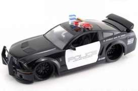 Shelby  - 2007 black/white - 1:24 - Jada Toys - 91836 - jada91836 | The Diecast Company