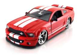 Shelby  - 2008 red/white - 1:24 - Jada Toys - 91843r - jada91843r | The Diecast Company