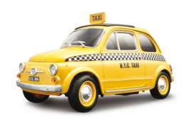 Fiat  - yellow - 1:18 - Bburago - 12066 - bura12066 | The Diecast Company