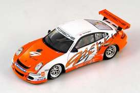 Porsche  - 2007 orange/white - 1:43 - Spark - S1906 - spaS1906 | The Diecast Company