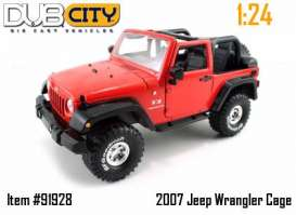 Jeep  - 2007 red - 1:24 - Jada Toys - 91928r - jada91928r | The Diecast Company