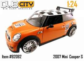 Mini  - 2007 orange - 1:24 - Jada Toys - 92092o - jada92092o | The Diecast Company