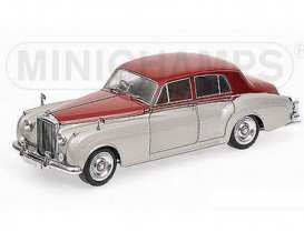 Bentley  - 1960 silver/dark red - 1:18 - Minichamps - 100139950 - mc100139950 | The Diecast Company